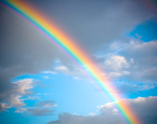 Only God can create a rainbow